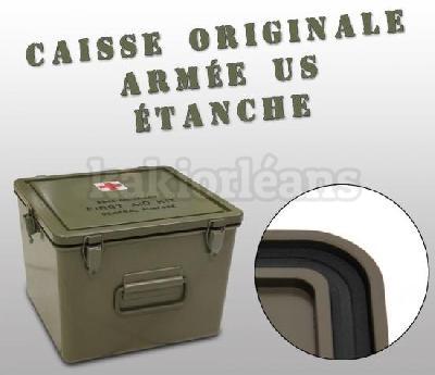 caisse militaire plastique tanche originale arm e us kaki dans rayon titre. Black Bedroom Furniture Sets. Home Design Ideas