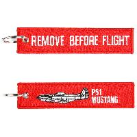 Porte clés REMOVE BEFORE FLIGHT P51 MUSTANG