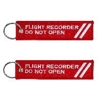 Porte clés FLIGHT RECORDER DO NOT OPEN